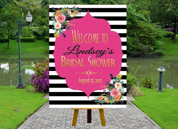 PRINTABLE Welcome Bridal Shower Poster Welcome Poster Rustic