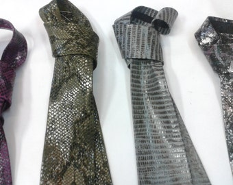 Handmade Embossed Leather Ties (1 tie)