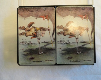 2 Decks of Cards From Thought Factory From 1975 and 1981 in Case