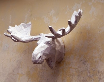 Make Your Own Moose Sculpture. | Papercraft Moose | Papercraft Sculpture | Papercraft Animals | Wild Animals | Bullwinkle | Moose | Alaska