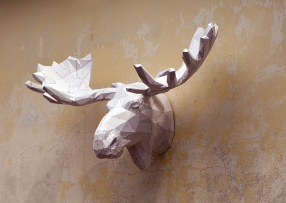 Make Your Own Moose Sculpture  Papercraft Moose Papercraft