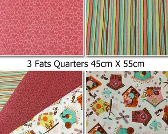 Bundle, Freedom, bird hut,  Fat Quarter, bundles