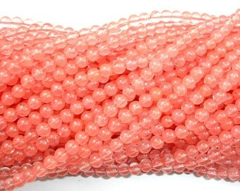 Cherry Quartz Beads, Round, 4mm (4.5 mm), 15 Inch, Full strand, Approx 93 beads, Hole 0.8 mm (188054001)