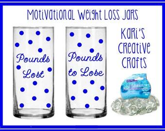 Motivational Weight Loss Jars, Motivational Diet Jar Set, Custom Jars,