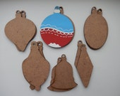 Items Similar To Christmas Wooden Shapes Xmas Wooden