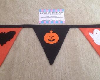 Handmade Halloween Bunting 2m Bunting (9 Flags)