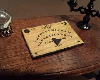 Dollhouse Miniature Handmade 1894-style Ouija Board  1/12th, 1:12