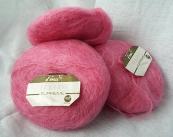 Emu Filigree mohair yarn pink