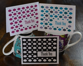 Thank you Greeting Cards, Set of Twelve