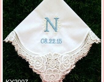 Wedding Handkerchief-EMBROIDERY hankies-Monogram Hankerchief-Bridesmaid hankies-Wedding Gifts-Embroidery hankerchief-Ladies Keepsake-Canada