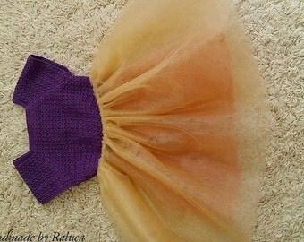princess crochet and tule baby dress