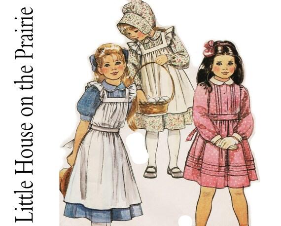 Little House On The Prairie Dresses McCalls 8686 Sz 7 Girls