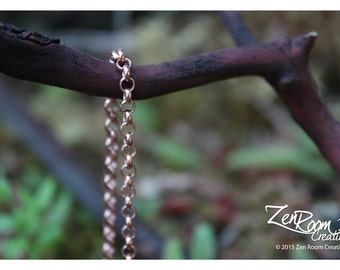 "18"" 3.25mm Copper Rolo Chain Necklace"