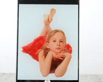 Printed Glass Photo with Silver Edges - Your picture here