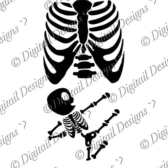 baby martial arts skeleton pregnancy svg png by