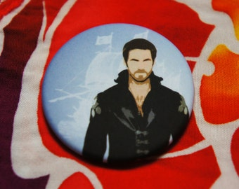 "Badge / Pin ""HOOK"" - OUAT / Once Upon A Time / Captain Hook / Killian Jones"