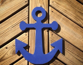 Custom Wall Anchor (Pick a Size), (Select a Blue Color), Wall Art, Home Decor, Nursery, Trendy, Classroom, Dorm, Nautical