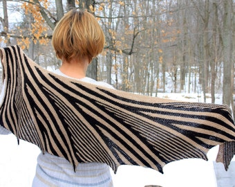 knitting pattern for shawl Afternoon Shadows