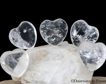 John of God Blessed and Energized Crystal Heart JHH-1