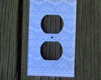 Gray Patterned Outlet Cover