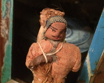 small vintage primitive handmade doll