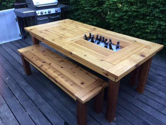 Backyard Table Match : similar to Patio Table with Hidden Coolers (Indiana Buyers) Matching