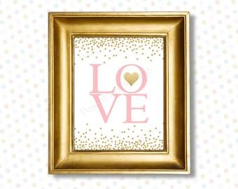 Love printable 8x10 (INSTANT DOWNLOAD) - Love typography - Nursery printables - Printable nursery art PG1