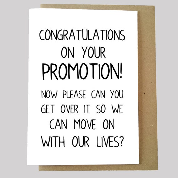 items similar to funny promotion card congratulations