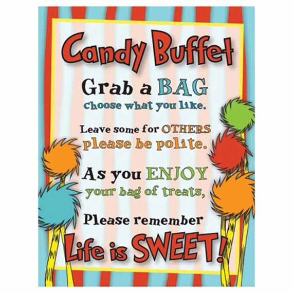 Candy Buffet Sign Baby Shower Birthday Party Life Is Sweet