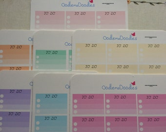 Ombre Half Boxes- To Do Lists for your Life Planners