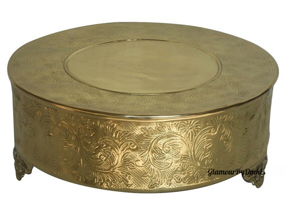 14 inch round wedding cake stand 14 gold or silver cake stand metal wedding cake 10044