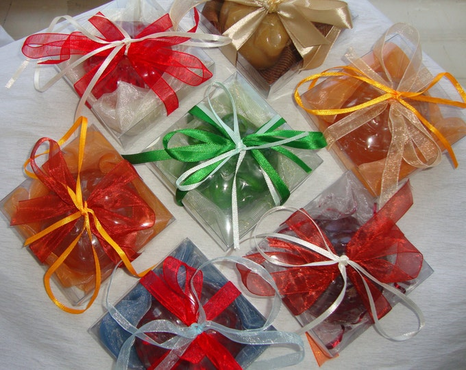 Unique Party Guests Gift, Handmade Party Favors, Set 14 Luxury Decorative Soaps boxes, Birthday Guests Gift, Feast Gift, Engagement Gift