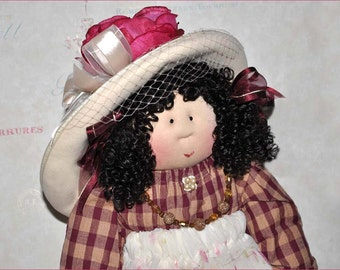 "Little Souls Doll, Little Souls Swanky, Little Souls Liza 24"", Gretchen Wilson, Cloth Dolls, One-Of-A-Kind, Dolly Mama, Ooak"