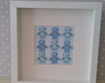3d Robot frame, framed artwork
