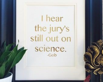 Arrested Development, art print, Gold Foil Print, Science Poster, Wall Art