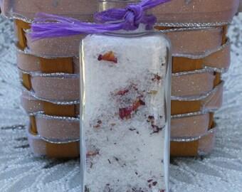 Organic Rose Petal Bath Salts - Gifts for Her - 3.5 Ounces