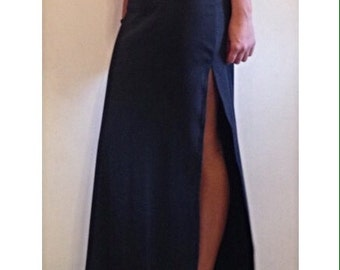 Maxi Skirt with Side Slits / Maxi / Maxi Skirt / Side Slits / Black Maxi Skirt / Blasck Skirt / Skirt / Bodycon Skirt / Bodycon Maxi Skirt