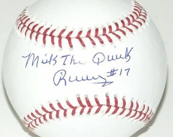 Mickey Rivers Autographed Baseball w/Hologram & COA