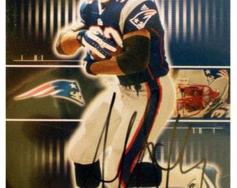 Antowain Smith Signed New England Patriots Autographed Card COA