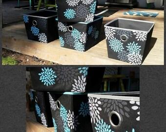 Custom Painted Storage Bins