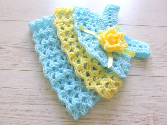 Dress Pattern Crochet baby dress PATTERN Ruffle dress