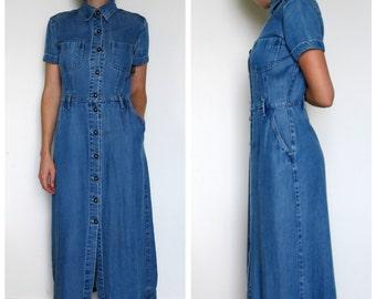 Long dress in jean 90