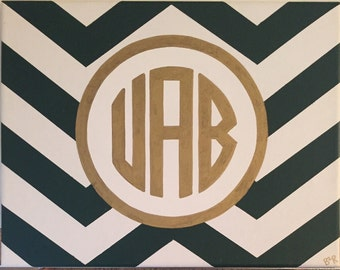 UAB Monogram Chevron Canvas