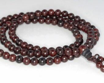 108PCS 8mm 6mm Red Rosewood  Prayer Buddha Japa Mala Meditation Beads Round Loose Beads