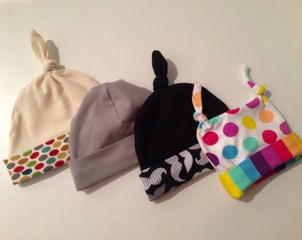 Custom Baby Hat - you choose fabrics and style