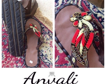 Handmade sandals flip flops shoes made from recycled materials tyre soles woman