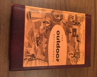1957 Leather Bound Edition of The Outdoor Encyclopedia