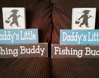 "Daddy""s little fishing buddy, Daddy's girl, Daddy's boy SIGN, Baby Shower gift, Baby's room decor"