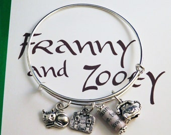 Salinger's Franny & Zooey Recycled Book Page Charm Bangle