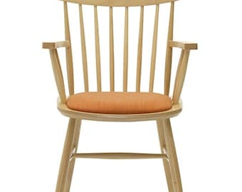 Wooden armchair, scandinavian style, oak wood